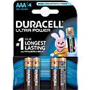 DURACELL® batterijen ULTRA, AA of AAA, 1,5 V, 4 stuks