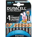 DURACELL® piles alcalines ULTRA POWER, types Mignon AA et Micro AA, 1,2 V, paquet de 8 ou 12 pièces