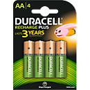 DURACELL® piles rechargeables, type AA, 1,2 V, 1300 mAh, paquet de 4