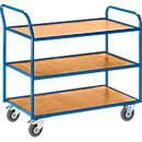 Etagewagen, gelede schuifbeugel, 2 of 3 etages, draagvermogen 300 kg