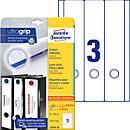 Etykiety AVERY® na segregatory L4761, szerokie, krótkie, białe