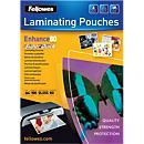 Fellowes® lamineerhoezen SuperQuick, glazend, pak van 100 stuks