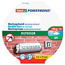 Fita adesiva de dupla face tesa Powerbond® Outdoor, L 5 m x W 19 mm, para uso exterior, verde