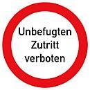 """Folie """"Unbefugten Zutritt verboten"""""""