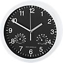 Horloge à quartz L'UNIVERSELLE avec cadran à chiffres, avec thermomètre et hygromètre, Ø 400 mm