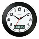 Horloge radio pilotée avec cadran à chiffres et écran LCD pour la date, Ø 300 mm, pour l'intérieur