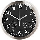 Horloge radio- pilotée L'UNIVERSELLE, avec thermomètre et hygromètre, Ø 400 mm