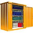 Materialcontainer MC 1100, lackiert, montiert