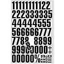 Números e letras magnéticas, para superfícies metálicas, DIN A4, amarelo ou branco