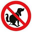 Panneau de signalisation Ø 200 mm : déjection canine interdite