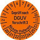 Placa de prueba, probada según la norma DGUV 3
