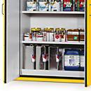 Półki wannowe do szafy na materiały niebezpieczne typ 90, 435x1045 mm, jasnoszare