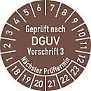 Prüfplakette, Geprüft nach DGUV Vorschrift 3 (2018- 2023)