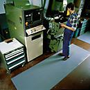 Revêtement de sol de poste de travail anti- statique