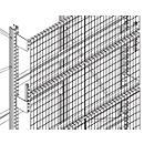 Roosterset voor achterwand, voor h 2500- 5800 mm en d 850 of 1100 mm, breedte 1900 of 2700 mm