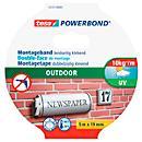 Ruban adhésif double face tesa Powerbond® Outdoor, L 5 m x L 19 mm, pour usage extérieur, vert