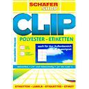 Schaefer- Shop étiquettes ultra résistantes en polyester, étanches, paquet de 20 feuilles