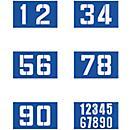 Set de 6 pochoirs pour marquage au sol, avec chiffres