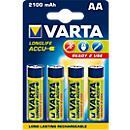 Set económico VARTA pilas recargables Power Play Longlife, Mignon AA o Micro AAA, 4 piezas