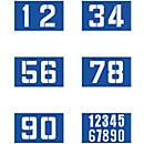 Sjablonenset voor rijbaanmarkering, 6 x cijfers
