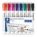 STAEDTLER whiteboardmarkers Lumocolor®, set van 8, verschillende kleuren