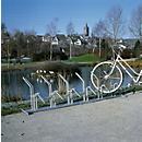 Stelaż do parkowania rowerów i motorowerów
