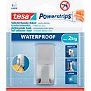 tesa Powerstrips Waterproof Hook Zoom, aço inoxidável, para salas húmidas, máx. 2 kg