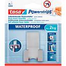 tesa® Powerstrips® waterdichte dubbele haak, metaal, voor natte ruimten, 2 kg