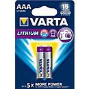 VARTA Batterie PROFESSIONAL LITHIUM, Micro AAA, 1,5 V, 2 oder 4 Stück