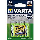 VARTA oplaadbare batterijen, types AA en AAA