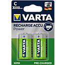 VARTA piles rechargeables, type Baby C, 1,2 V, 3000 mAh, paquet de 2
