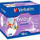 Verbatim® DVD+R, bis 16fach, 4,7 GB/ 120 min