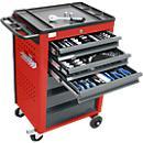 Wózek narzędziowy BASIC z zestawem narzędzi 115 szt.