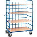 Wózek piętrowy, 3 półki, powierzchnia ładunkowa 1000 x 640 lub 1200 x 740 mm