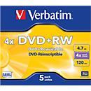 Wiederbeschreibbare DVD- Rohlinge von Verbatim®, DVD+RW