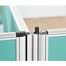 4 x 90° hoekverbindingsblad geluidsisolatie Systeem 40, voor scheidingswanden met een hoogte van 1200 mm