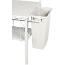 Abfallbehälter Serie TPB, f. Packtische Serie TPB, Inhalt 60 l, m. Stahlhalterung