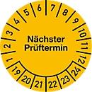 Keuringsvignet, volgende keuringsdatum (2019-2024), Ø 20 mm, 100 stuks
