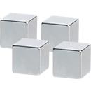 Neodym magneet 32393, ca. 3 kg hechtkracht, ideaal voor glasboards, b 10 x d 10 x h 10 mm