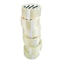 Packband Clip, L 66 m x B 50 mm, 50µ Gesamtstärke, mit Abroller, PP-Folie,transparent, 12 Rollen