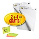 Post-it® Haftnotizen Super Sticky Meeting Charts 559, 635 x 762 mm, 60 Blatt, weiß, blanko + GRATIS Post-it® Haftnotizen