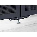 Stelpoot Akustika, voor scheidingswanden Akustika, in hoogte verstelbaar, kleur grafiet