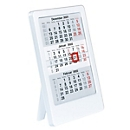 3-Monats-Tischkalender, doppelseitig bedruckt, B 120 x T 10 x H 160 mm, Werbedruck 100 x 20 mm, weiß