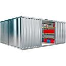 39129 - Materialcontainer Mod. 1440, verzinkt, vormontiert, mit Holzfußboden