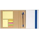 5-in-1 Notizbuch, mit Klebezetteln, Markerblöcken, Kugelschreiber, Blankopapier-Block, blau