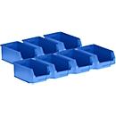 5 magazijnbakken LF 321 + 2 GRATIS, kunststof, blauw, 7,5 l