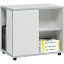 Aanbouwladeblok Moxxo IQ, pc-towervak, 1 deur, 2 zijdelingse vakken, B 551 x D 800 x H 720 mm, lichtgrijs