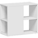 Aanbouwladeblok PALENQUE, 3 zijden open, B 400 x D 800 x H 720 mm, lichtgrijs