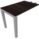 Aanbouwtafel SOLUS PLAY, rechthoekig, B 1000 x D 600 x H 720 - 820 mm, moeraseik