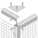 Abdeckwinkel, 50 x 50 x 2150 mm, optional zur Stabilisierung, hellsilber
